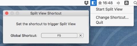 SplitViewShortcut