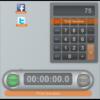 デスクトップ上にソーシャルサイトへのリンクアイコンや電卓、ストップウォッチを表示『Float』