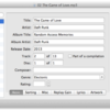 さまざまなフォーマットの音楽ファイルのメタデータを編集『Tag』