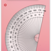 デスクトップに分度器を表示『Protractor』