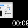 デスクトップを黒く覆い、中央にタイマーや時計を表示『Classroom Timer』